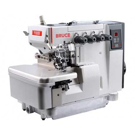 Stainless Steel Automatic Bruce X5 Over Lock Sewing Machine