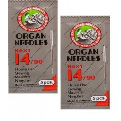 Original Organ Needles NO HA 14 (2 Packs, 10 Needles ) ( Usha / Singer / Brother)