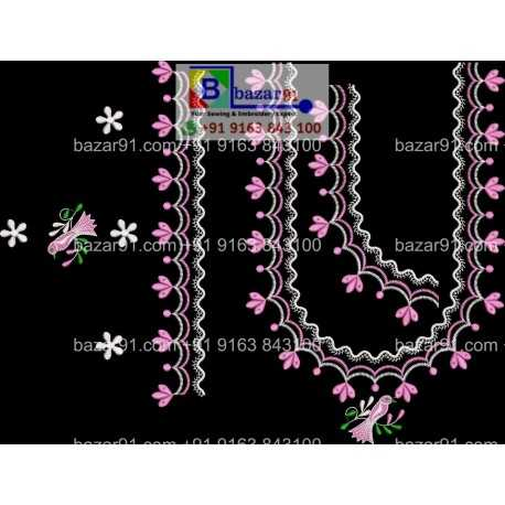 South Indian Embroidery Neck Design Collection PPM42