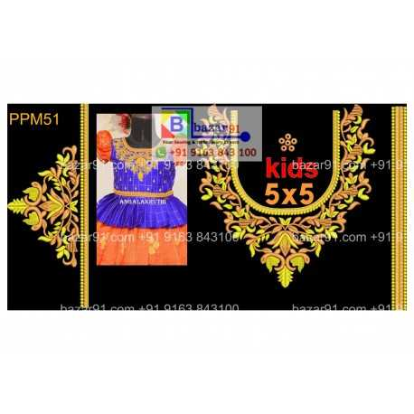 South Indian Embroidery Neck Design Collection PPM51
