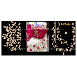South Indian Embroidery Neck Design Collection PPM44