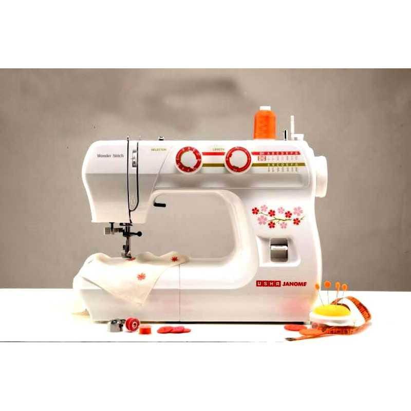 Usha Janome Wonder Stitch Automatic ZigZag Sewing Machine With Hard Cover