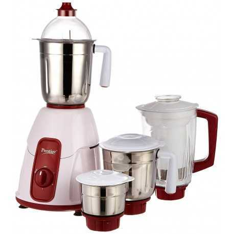 Prestige Elegant 750-Watt Mixer Grinder and juicer with 4 Jars (Red)