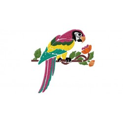 4*4 Parrot Embroidery Design