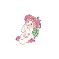 Praying Baby Embroidery Design
