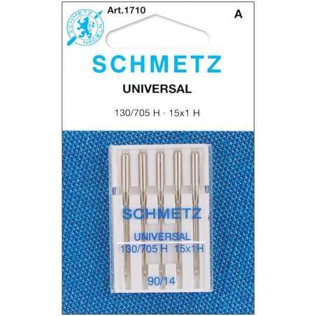 Schmetz Universal Sewing Machine Needles (10pcs)130/705H 15x1H Size 90/14