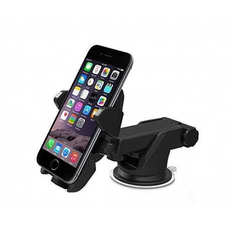 Premium Long Neck One Touch Expandable & Rotatable Car Mount Holder With Double Shift Locking For Windscreen,